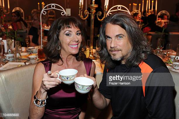 Actors Paige O'Hara and Robby Benson attends the 'Beauty and the Beast' SingALong DVD premiere after Tea Party held at the Hollywood and Highland...