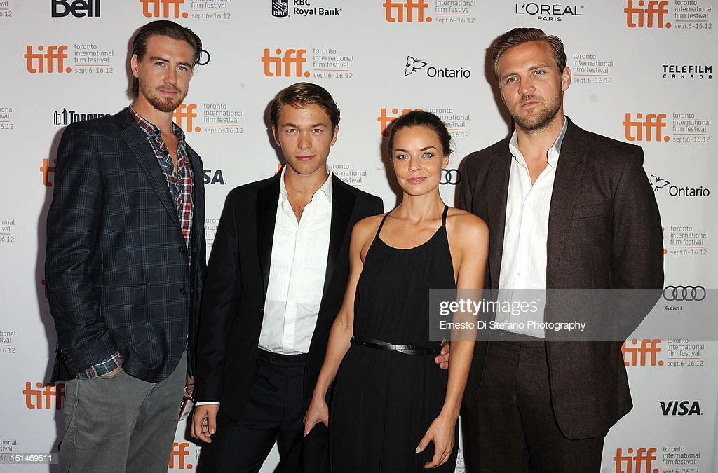 Actors Pal Sverre Hagen, Jakob Oftebro, Agnes Kittelsen and Tobias Santelmann attend the 'Kon-Tiki' premiere during the 2012 Toronto International Film Festival on September 7, 2012 in Toronto, Canada.