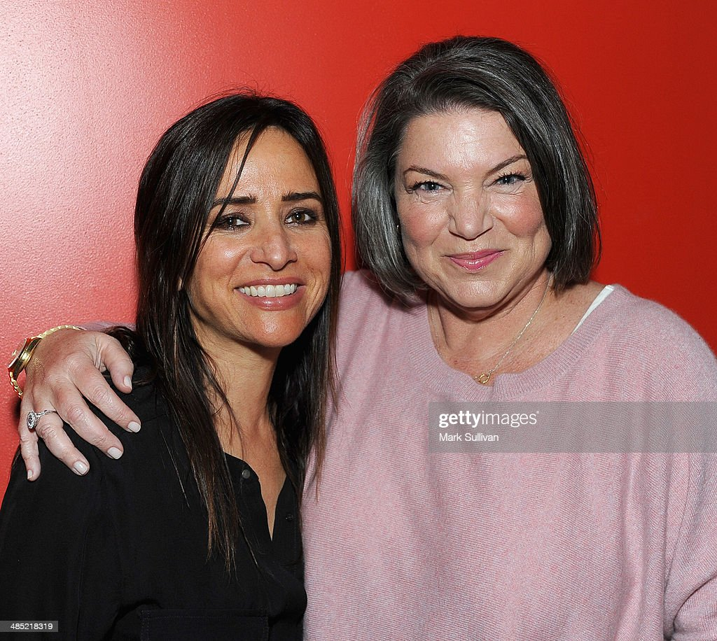 Actors Pamela Adlon and Mindy Cohn pose before Celebrity Autobiography The Music Edition Volume 4 at The GRAMMY Museum on April 16 2014 in Los...