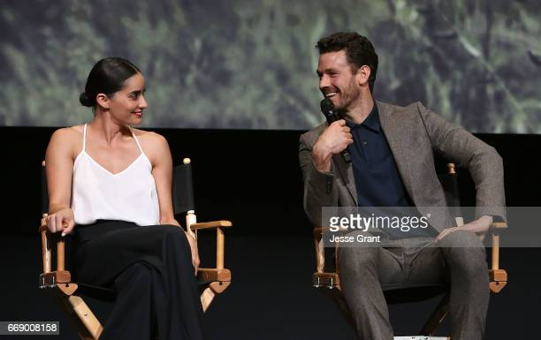 Actors Paola Nunez and Henry Garrett attend AMC's 'The Son' FYC Screening Panel Discussion on April 15 2017 in Los Angeles California