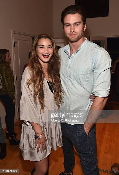 Actors Paris Berelc and Pierson Fode attend the premiere party of Disney XD's 'Lab Rats Elite Force' on March 2 2016 in Los Angeles California
