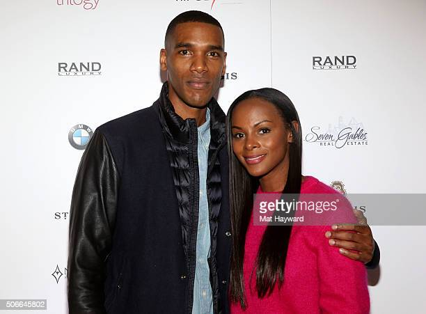 Actors Parker Sawyers and Tika Sumpter attend the Rand Luxury Hosts 'Southside With You' at The Luxury Lounge at The St Regis During Sundance 2016 on...