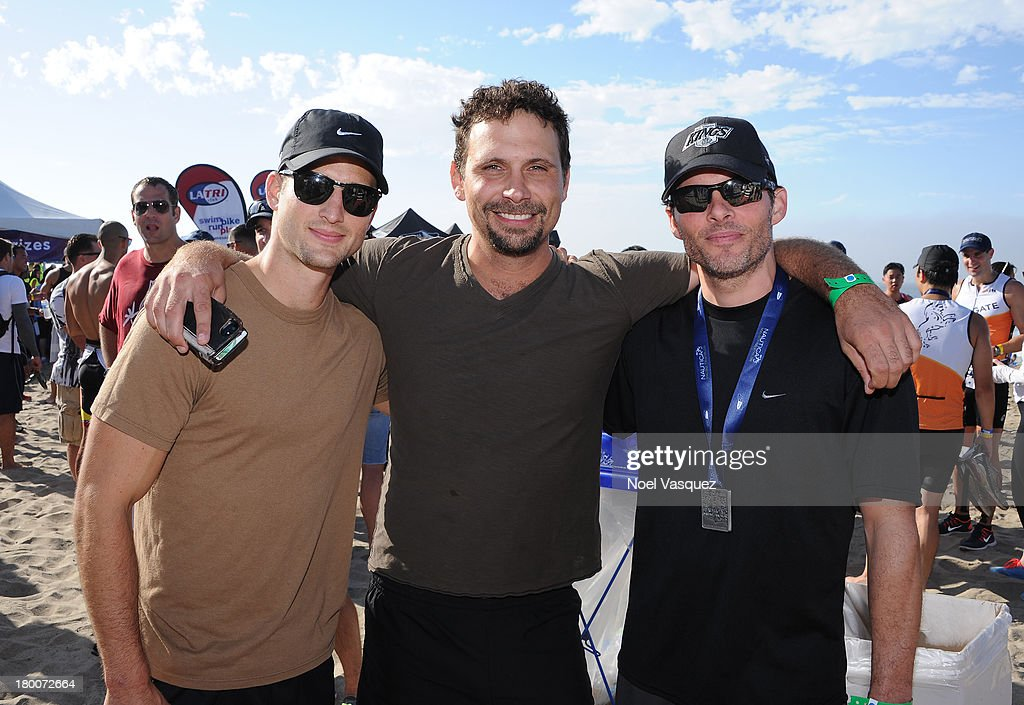Actors Parker Young, <a gi-track='captionPersonalityLinkClicked' href=/galleries/search?phrase=Jeremy+Sisto&family=editorial&specificpeople=207064 ng-click='$event.stopPropagation()'>Jeremy Sisto</a>, and <a gi-track='captionPersonalityLinkClicked' href=/galleries/search?phrase=James+Marsden&family=editorial&specificpeople=206902 ng-click='$event.stopPropagation()'>James Marsden</a> attends Nautica Malibu Triathlon presented by Equinox on September 8, 2013 in Malibu, California.