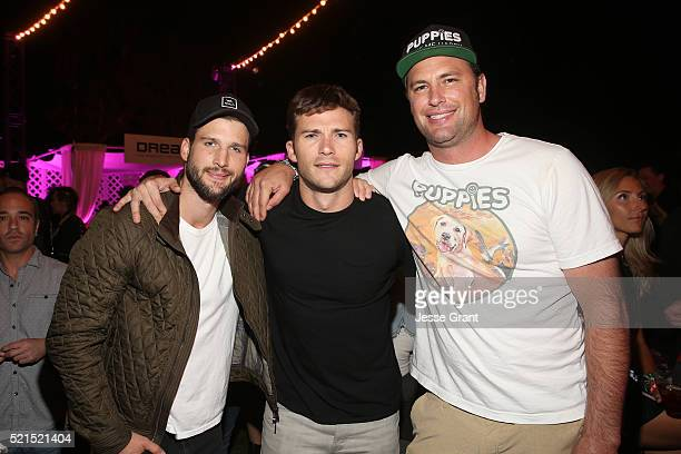 Actors Parker Young Scott Eastwood and Chris Colber attend NYLON's Midnight Garden on April 15 2016 in Bermuda Dunes California