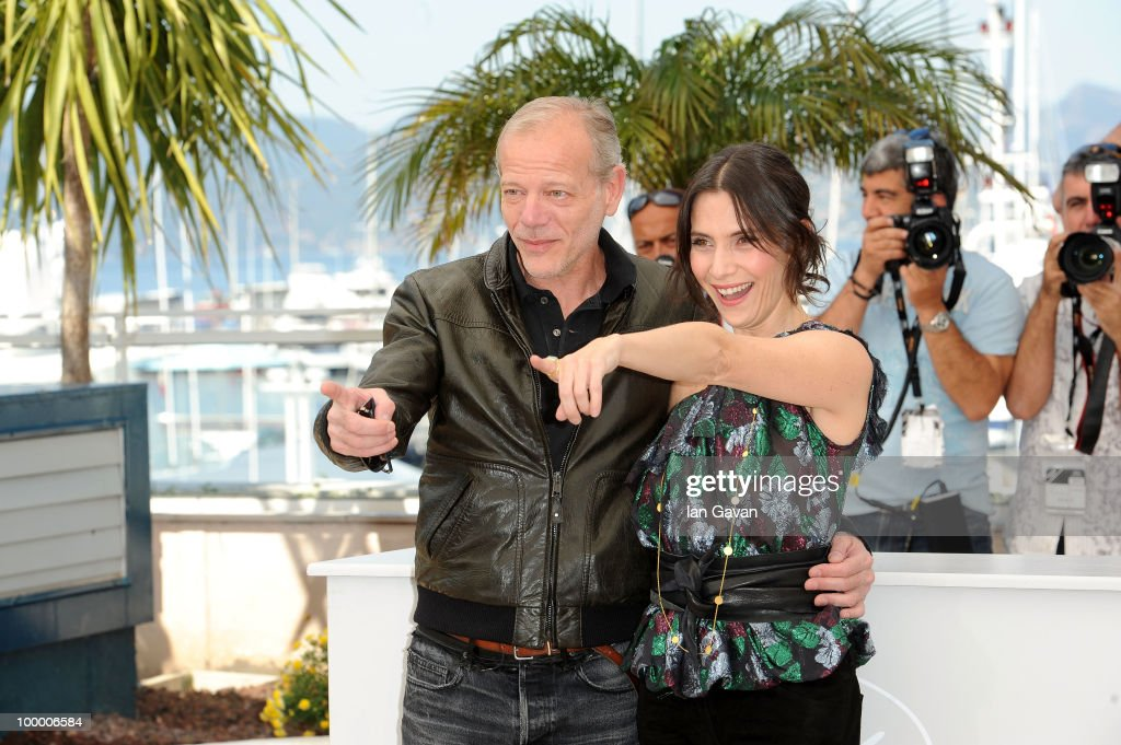 Actors Pascal Greggory and Geraldine Pailhas attends the 'Rebecca H. (Return To The Dogs)' Photocall at the Palais des Festivals during the 63rd Annual Cannes Film Festival on May 20, 2010 in Cannes, France.