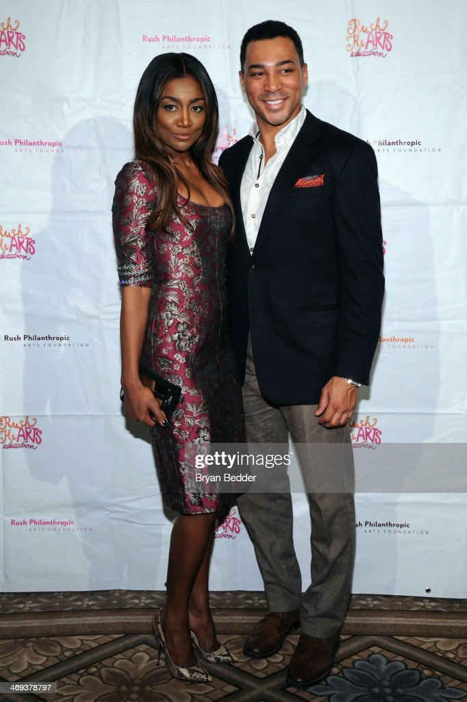 Actors Patina Miller and Charl Brown attend the Rush HeARTS Education Luncheon at The Plaza Hotel on February 14 2014 in New York City