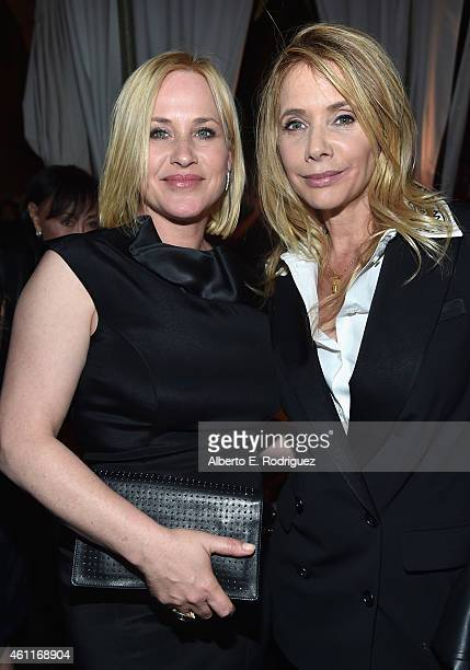 Actors Patricia Arquette and Rosanna Arquette attend Paramount Home Media Distribution Celebrates 'Boyhood' at Chateau Marmont on January 7 2015 in...