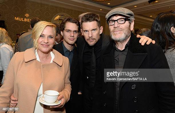 Actors Patricia Arquette Ellar Coltrane Ethan Hawke and Tcheky Karyo attend the BAFTA Los Angeles Tea Party at The Four Seasons Hotel Los Angeles At...