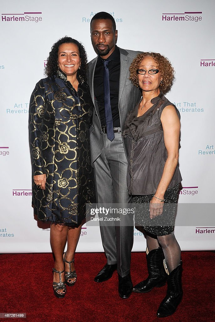 Actors Patricia Blanchet, Leon Robinson with Patricia Cruz(R) attend the Harlem Stage 2014 Spring Gala at Harlem Stage Gatehouse on April 28, 2014 in New York City.