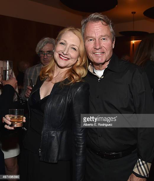 Actors Patricia Clarkson and John Savage attend the Broad Green Pictures Holiday Party on November 16 2015 in Los Angeles California