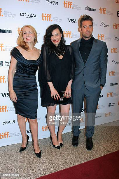 Actors Patricia Clarkson writer/director Ruba Nadda and Scott Speedman attend the 'October Gale' premiere during the 2014 Toronto International Film...