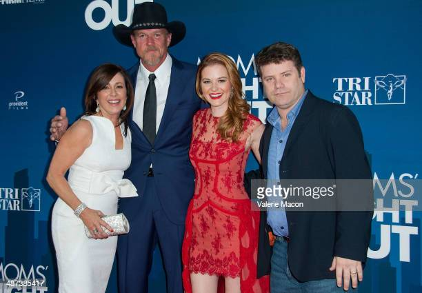 Actors Patricia Heaton Trace Adkins Sarah Drew and Sean Astin arrive at the Premiere Of TriStar Picture's 'Mom's Night Out' at TCL Chinese Theatre...