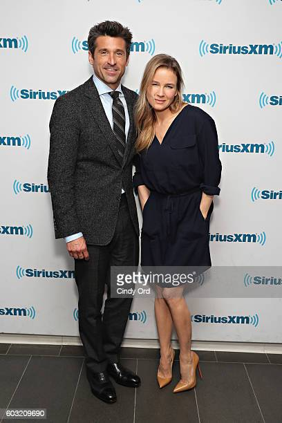 Actors Patrick Dempsey and Renee Zellweger visit the SiriusXM Studios on September 12 2016 in New York City