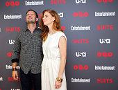 Actors Patrick J Adams and Sarah Rafferty attend 'Suits' Season 6 Screening Panel at the Entertainment Weekly Screening Room on June 23 2016 in New...