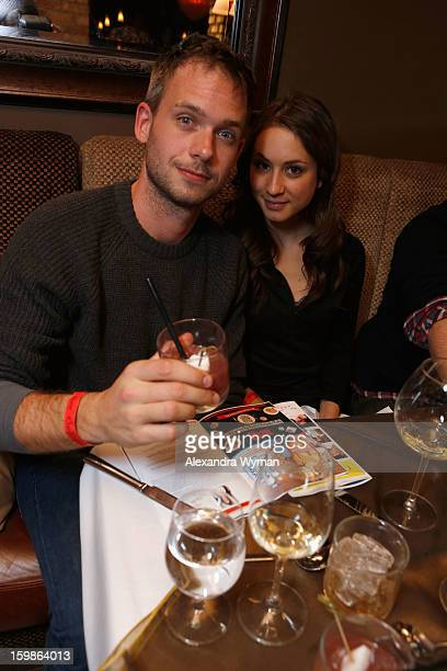 Actors Patrick J Adams and Troian Bellisario attend Night 4 of ChefDance on January 21 2013 in Park City Utah