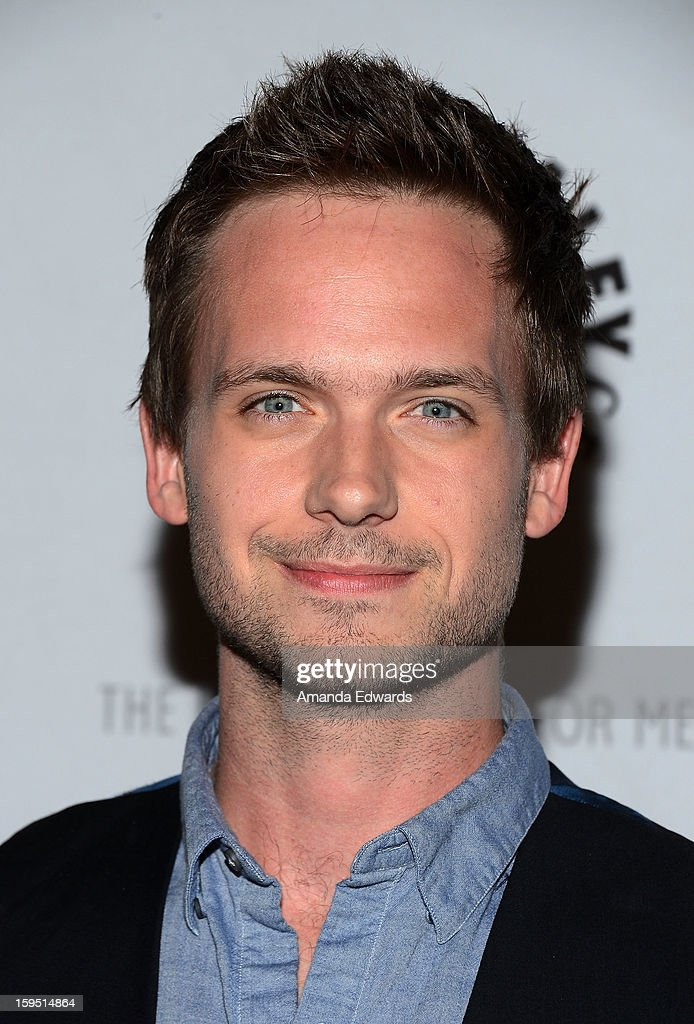 Actors <a gi-track='captionPersonalityLinkClicked' href=/galleries/search?phrase=Patrick+J.+Adams&family=editorial&specificpeople=4195512 ng-click='$event.stopPropagation()'>Patrick J. Adams</a> arrives at The Paley Center For Media Presents An Evening With 'Suits' Mid-Season Premiere Screening And Panel at The Paley Center for Media on January 14, 2013 in Beverly Hills, California.