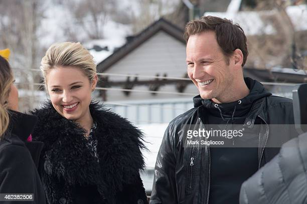 Actors Patrick Wilson and Dianna Agron are seen on January 27 2015 in Park City Utah