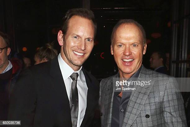 Actors Patrick Wilson and Michael Keaton attend the screening after party for 'The Founder' hosted by The Weinstein Company with Grey Goose at The...