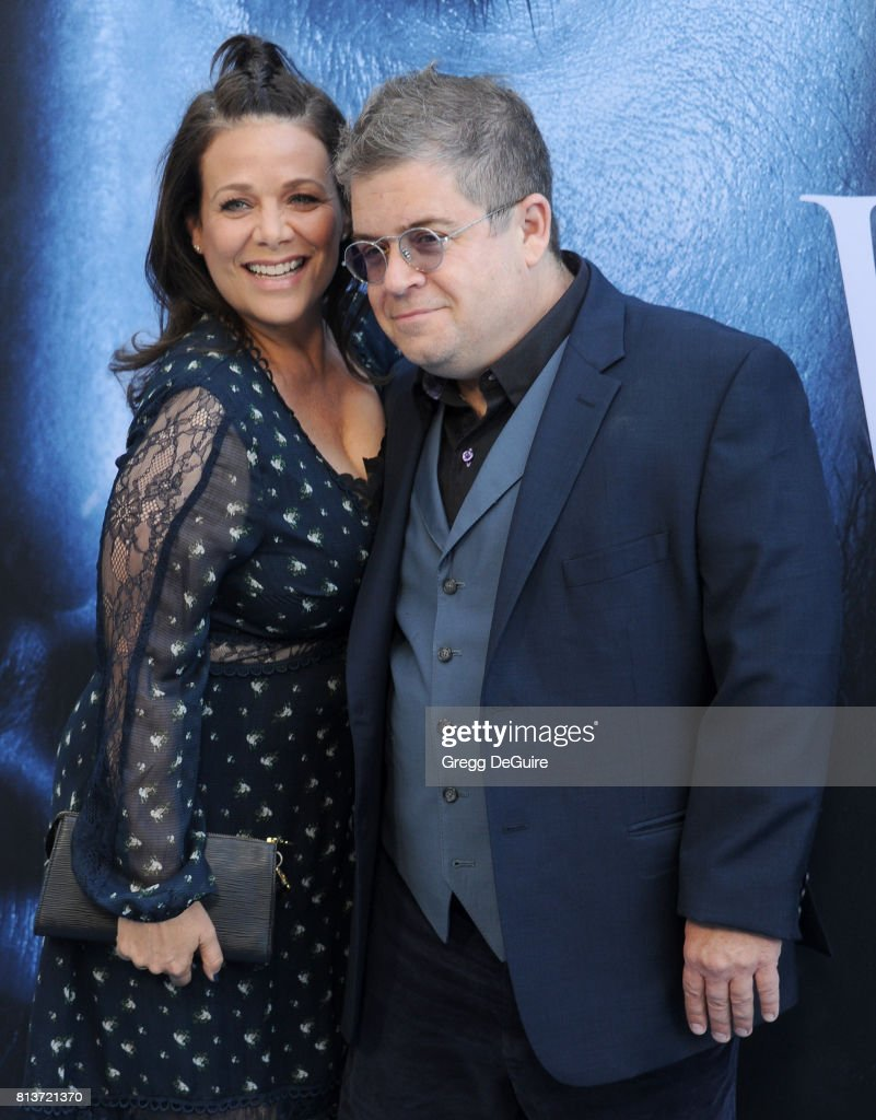Actors Patton Oswalt and Meredith Salenger arrive at the premiere of HBO's 'Game Of Thrones' Season 7 at Walt Disney Concert Hall on July 12, 2017 in Los Angeles, California.