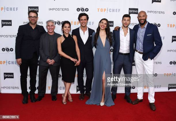 Actors Paul Adelstein Brian Benben Inbar Lavi Rob Heaps Marianne Rendon Parker Young and Stephen Bishop arrive at the Bravo 'Imposters' For Your...
