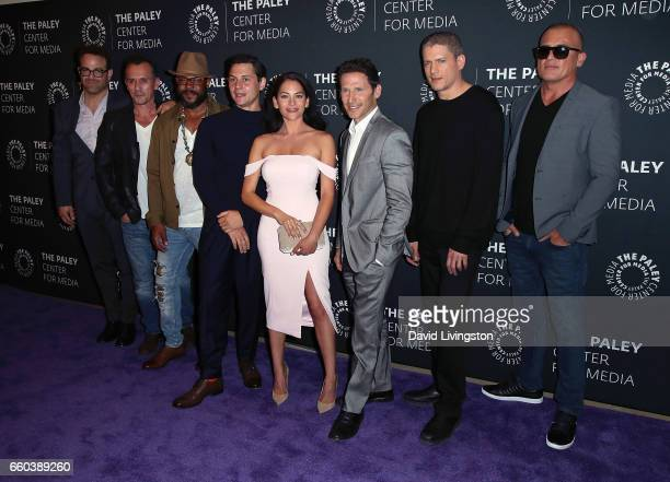 Actors Paul Adelstein Robert Knepper Rockmond Dunbar Augustus Prew Inbar Lavi Mark Feuerstein Wentworth Miller and Dominic Purcell attend the 2017...
