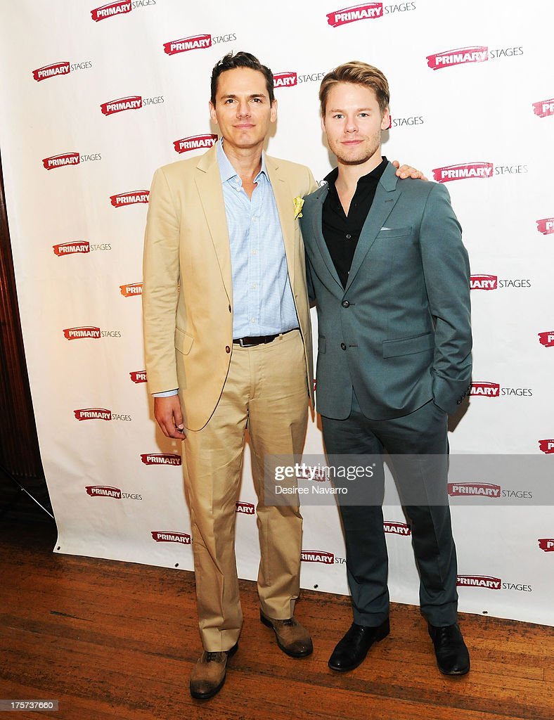 Actors Paul Anthony Stewart and <a gi-track='captionPersonalityLinkClicked' href=/galleries/search?phrase=Randy+Harrison&family=editorial&specificpeople=240172 ng-click='$event.stopPropagation()'>Randy Harrison</a> attend 'Harbor' Opening Night After Party at Park Avenue Armory on August 6, 2013 in New York City.