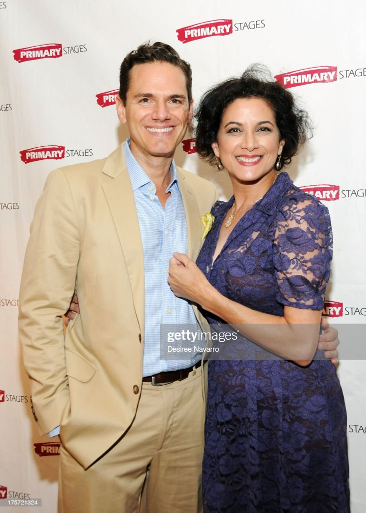 Actors Paul Anthony Stewart and Saundra Santiago attend 'Harbor' Opening Night After Party at Park Avenue Armory on August 6, 2013 in New York City.