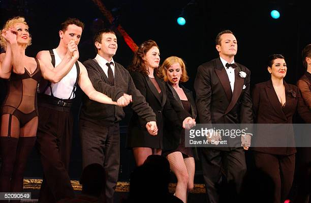 Actors Paul Barker Jill Halfpenny AnnaJane Casey and Michael French during Jill's West End debut as Roxie Hart in 'Chicago The Musical' at The...