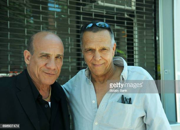 Actors Paul BenVictor and James Russo on the set of 'The Neighborhood' on June 20 2017 in New York City