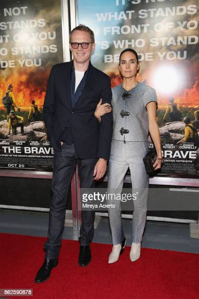 Actors Paul Bettany and Jennifer Connelly attend 'Only The Brave' New York screening at iPic Theater on October 17 2017 in New York City