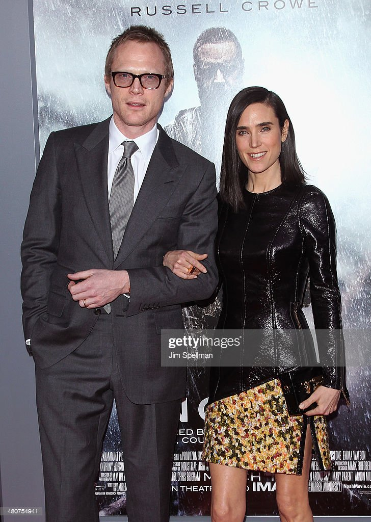 Actors <a gi-track='captionPersonalityLinkClicked' href=/galleries/search?phrase=Paul+Bettany&family=editorial&specificpeople=202591 ng-click='$event.stopPropagation()'>Paul Bettany</a> and <a gi-track='captionPersonalityLinkClicked' href=/galleries/search?phrase=Jennifer+Connelly&family=editorial&specificpeople=201581 ng-click='$event.stopPropagation()'>Jennifer Connelly</a> attend the 'Noah' New York Premiere at Ziegfeld Theatre on March 26, 2014 in New York City.