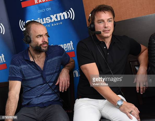 Actors Paul Blackthorne and John Barrowman attend SiriusXM's Entertainment Weekly Radio Channel Broadcasts From ComicCon 2016 at Hard Rock Hotel San...