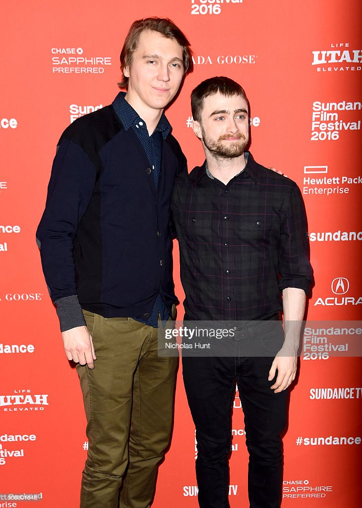 Actors Paul Dano and Daniel Radcliffe attend the 'Swiss Army Man' Premiere during the 2016 Sundance Film Festival at Eccles Center Theatre on January...