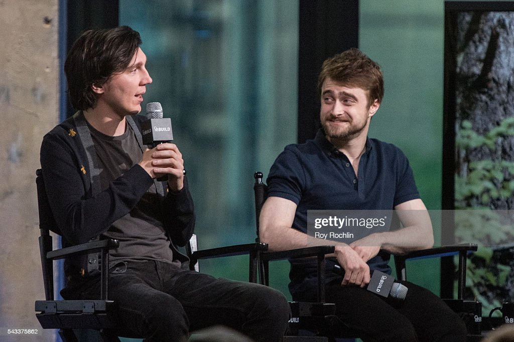 Actors Paul Dano and Daniel Radcliffe discuss their new film 'Swiss Army Man' with AOL Build at AOL Studios In New York on June 27, 2016 in New York City.