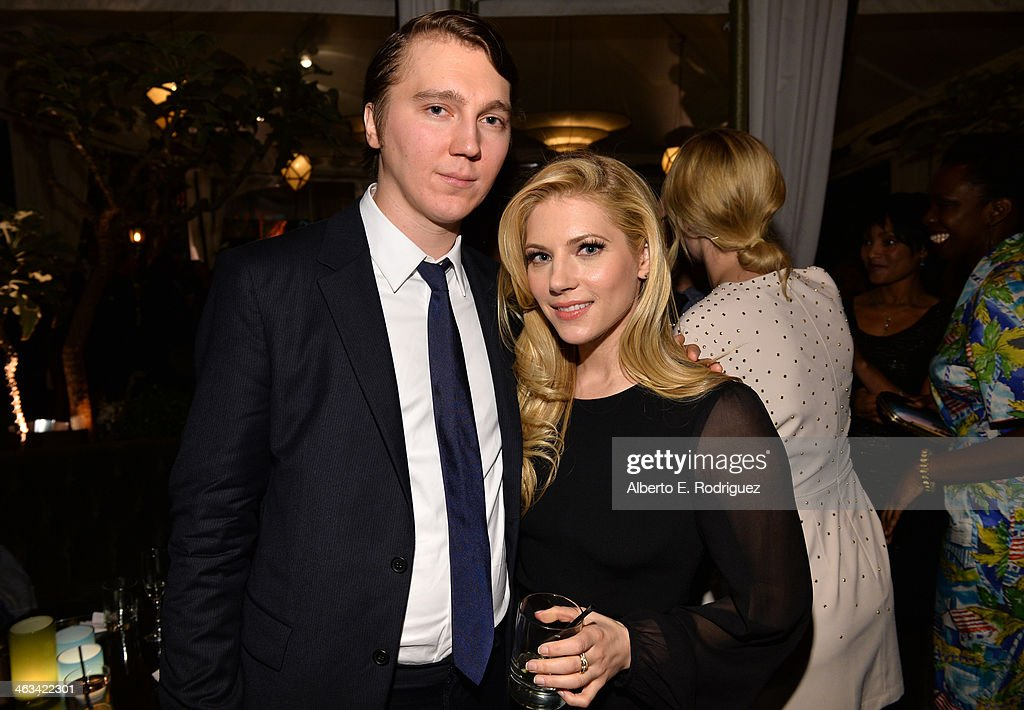 Actors <a gi-track='captionPersonalityLinkClicked' href=/galleries/search?phrase=Paul+Dano&family=editorial&specificpeople=550442 ng-click='$event.stopPropagation()'>Paul Dano</a> (L) and <a gi-track='captionPersonalityLinkClicked' href=/galleries/search?phrase=Katheryn+Winnick&family=editorial&specificpeople=663983 ng-click='$event.stopPropagation()'>Katheryn Winnick</a> attend the Entertainment Weekly celebration honoring this year's SAG Awards nominees sponsored by TNT & TBS and essie at Chateau Marmont on January 17, 2014 in Los Angeles, California.