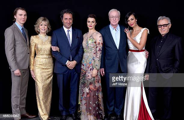 Actors Paul Dano Jane Fonda writer/director Paolo Sorrentino actors Rachel Weisz Michael Caine Madalina Diana Ghenea and Harvey Keitel from 'Youth'...
