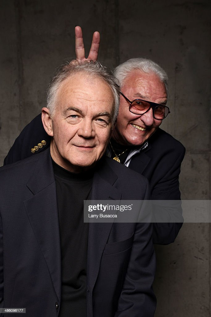 Actors Paul Eenhoorn, and Earl Lynn Nelson from 'Land Ho!' pose for the Tribeca Film Festival Getty Images Studio on April 22, 2014 in New York City.