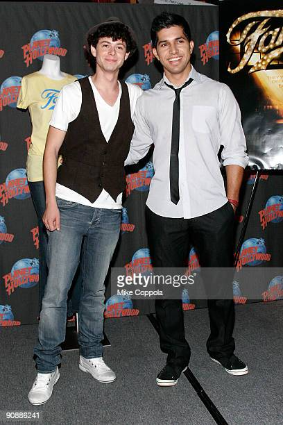 Actors Paul Iacono and Walter Perez attends 'Fame' Star appearance at Planet Hollywood Times Square on September 17 2009 in New York City