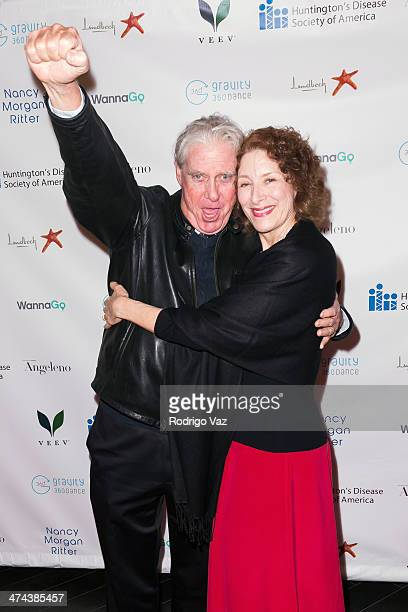 Actors Paul Linke and Christine Healy attend the Huntington's Disease Society of America 2014 Freeze HD Benefit at Mack Sennett Studios on February...