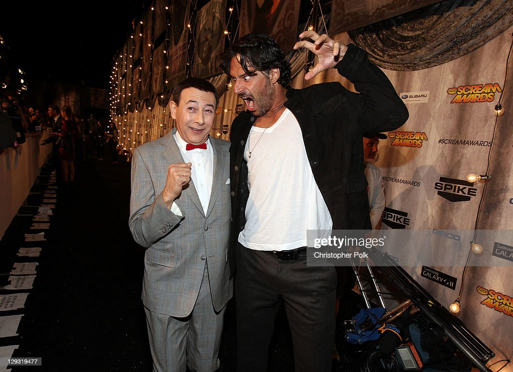 Actors Paul Reubens and Joe Manganiello arrives at Spike TV's 'SCREAM 2011' awards held at Universal Studios on October 15 2011 in Universal City...