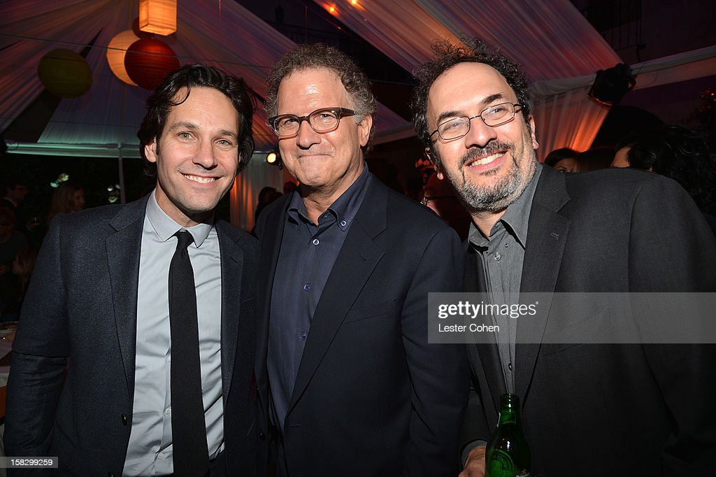 Actors Paul Rudd, Albert Brooks and Robert Smigel attend 'This Is 40' - Los Angeles Premiere - After Party at Grauman's Chinese Theatre on December 12, 2012 in Hollywood, California.