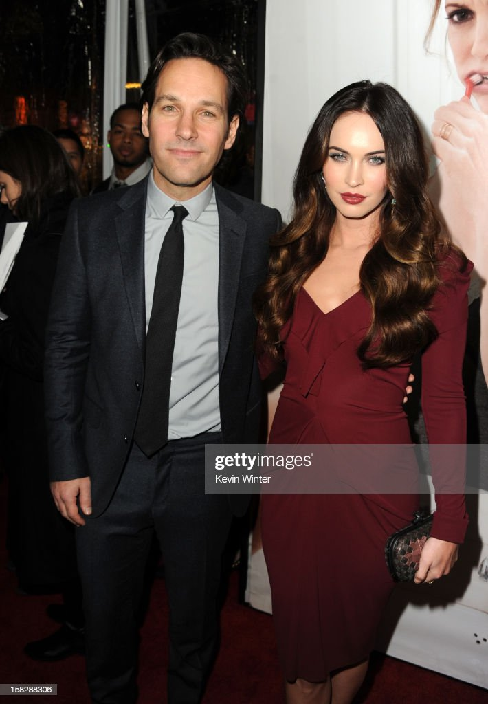 Actors Paul Rudd and Megan Fox attend the premiere of Universal Pictures' 'This Is 40' at Grauman's Chinese Theatre on December 12, 2012 in Hollywood, California.