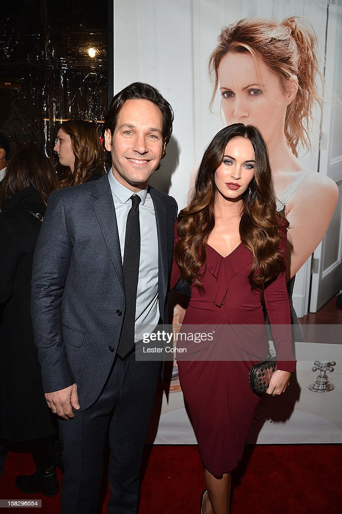 Actors Paul Rudd and Megan Fox attend 'This Is 40' - Los Angeles Premiere - Red Carpet at Grauman's Chinese Theatre on December 12, 2012 in Hollywood, California.