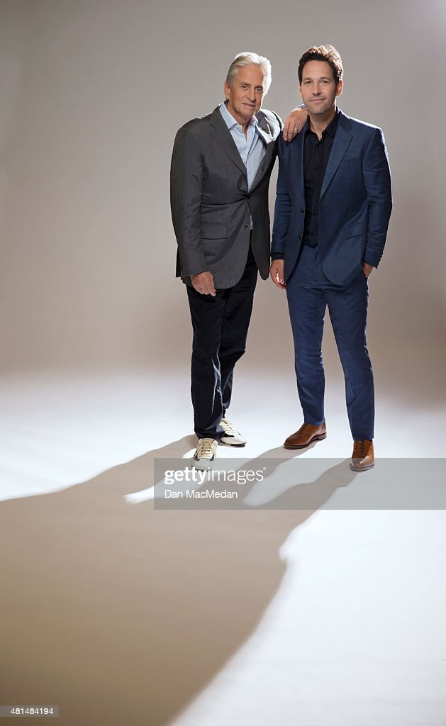 Actors Paul Rudd and Michael Douglas are photographed for USA Today on June 27, 2015 in Burbank, California.