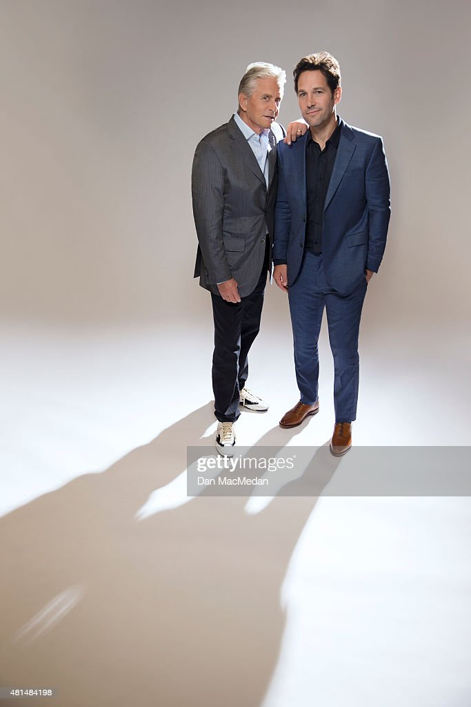 Actors Paul Rudd and Michael Douglas are photographed for USA Today on June 27, 2015 in Burbank, California. PUBLISHED