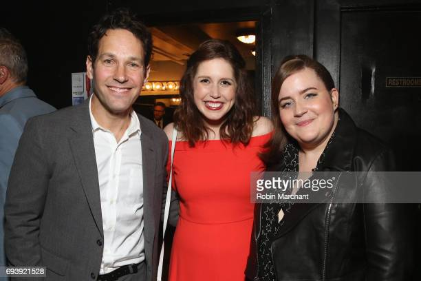 Actors Paul Rudd Vanessa Bayer and Aidy Bryant attend Hilarity for Charity's Third Annual New York City Variety Show at Webster Hall on June 8 2017...
