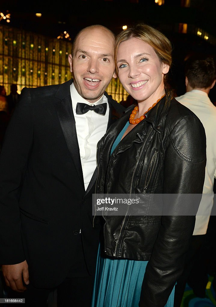 Actors <a gi-track='captionPersonalityLinkClicked' href=/galleries/search?phrase=Paul+Scheer&family=editorial&specificpeople=805513 ng-click='$event.stopPropagation()'>Paul Scheer</a> (L) and <a gi-track='captionPersonalityLinkClicked' href=/galleries/search?phrase=June+Diane+Raphael&family=editorial&specificpeople=5923890 ng-click='$event.stopPropagation()'>June Diane Raphael</a> attend HBO's official Emmy after party at The Plaza at the Pacific Design Center on September 22, 2013 in Los Angeles, California.