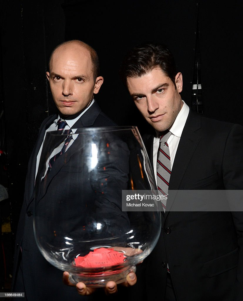 Actors Paul Scheer (L) and Max Greenfield attend Variety's 3rd annual Power of Comedy event presented by Bing benefiting the Noreen Fraser Foundation held at Avalon on November 17, 2012 in Hollywood, California.
