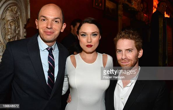 Actors Paul Scheer Clare Grant and Seth Green attend Variety's 3rd annual Power of Comedy event presented by Bing benefiting the Noreen Fraser...
