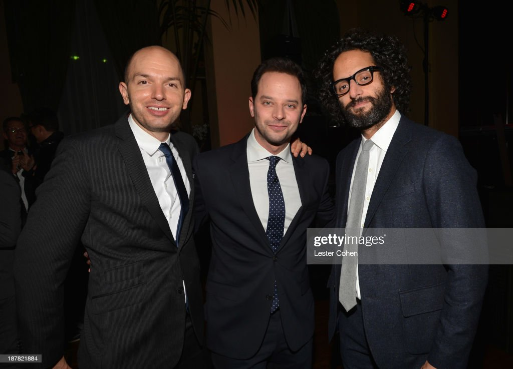 Actors <a gi-track='captionPersonalityLinkClicked' href=/galleries/search?phrase=Paul+Scheer&family=editorial&specificpeople=805513 ng-click='$event.stopPropagation()'>Paul Scheer</a>, <a gi-track='captionPersonalityLinkClicked' href=/galleries/search?phrase=Nick+Kroll&family=editorial&specificpeople=4432339 ng-click='$event.stopPropagation()'>Nick Kroll</a> and Jason Mantzoukas attend the GQ Men Of The Year Party at The Ebell Club of Los Angeles on November 12, 2013 in Los Angeles, California.
